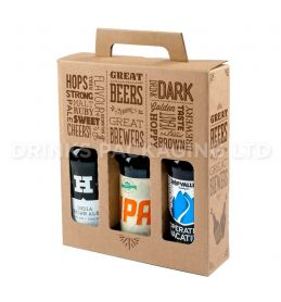 3 Bottle - 'Great Beers from Great Brewers' Gift Box - 330ml Front | Beer Box Shop