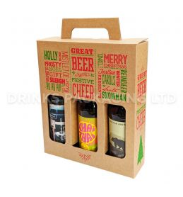 3 Bottle - 'Great Beer with Festive Cheer' Gift Box - 330ml Front | Beer Box Shop