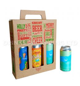 3 Can - 'Great Beer with Festive Cheer' Gift Box - 440ml / 500ml Front | Beer Box Shop