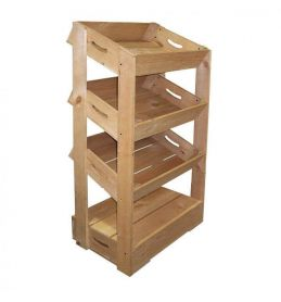 3 Angled Half Crate Shelf Unit | Beer Box Shop