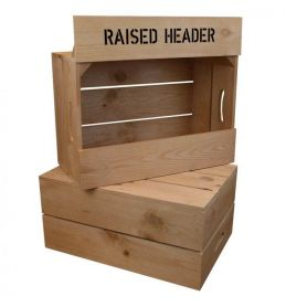 Header Board for Crate Shelving Units | Beer Box Shop