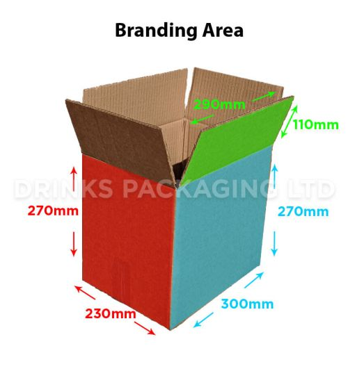 12 bottle trade/self delivery box | Tall - 500ml | Beer Box Shop