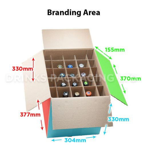 12 Bottle - Super Shipper Box - 500ml | Branding Area