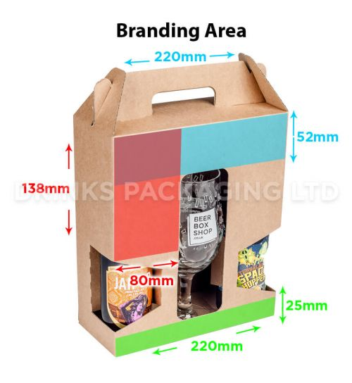 2 Bottle + Glass - Gift Box - 330ml | Branding Area