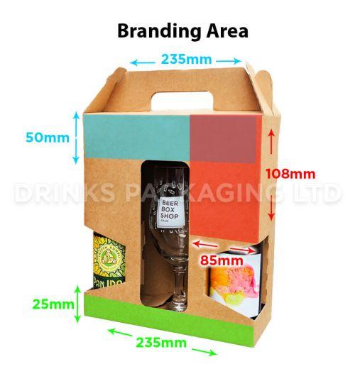 2 Bottle + Glass - Gift Box - 500ml  Glass Insert | Branding Area
