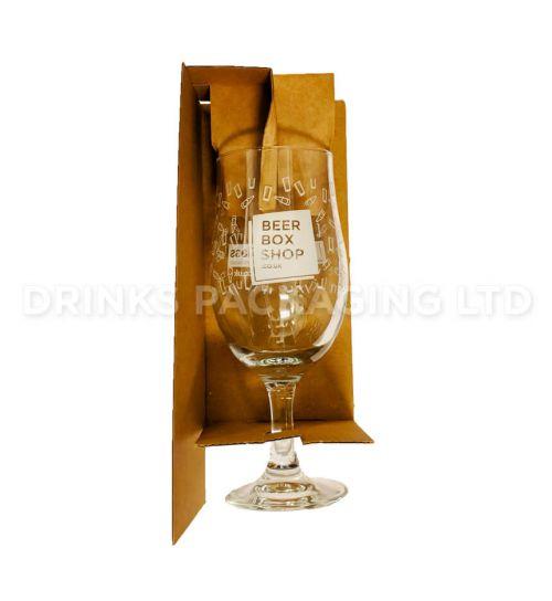 2 Bottle + Glass - Gift Box - 500ml  Glass Insert | Beer Box Shop