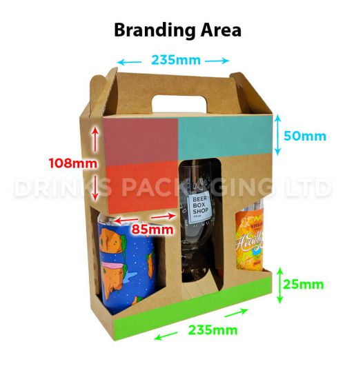 2 Can + Glass - Gift Box - 440ml / 500ml | Branding Area
