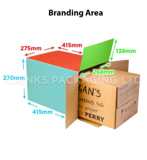 Bag-in-a-Box Outer Shipping Box - 20L | Branding Area