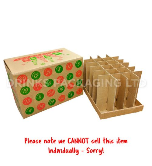 24 Bottle / Can Advent Calendar Gift Box - 330ml-500ml Side| Beer Box Shop