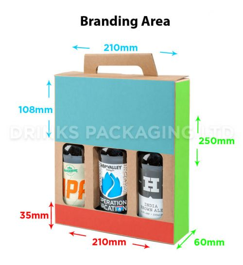 3 Bottle - Gift Box - 330ml | Branding Area