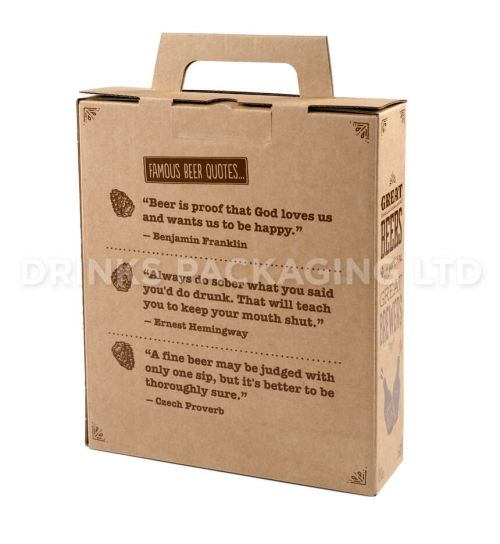 3 Bottle - 'Great Beers from Great Brewers' Gift Box - 330ml Back   Beer Box Shop