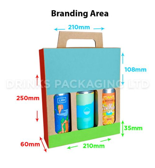 3 Can - Gift Box - 440ml / 500ml | Branding Area