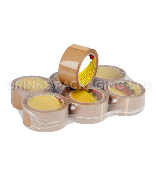 Pack of 6 Rolls - 3M™ 371 Packaging Parcel Tape – Brown | Beer Box Shop
