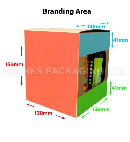 4 Can Cube - Gift Box - 330ml / 440ml | Branding Area
