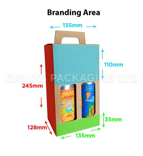 4 Can - Gift Box - 440ml / 500ml | Branding Area