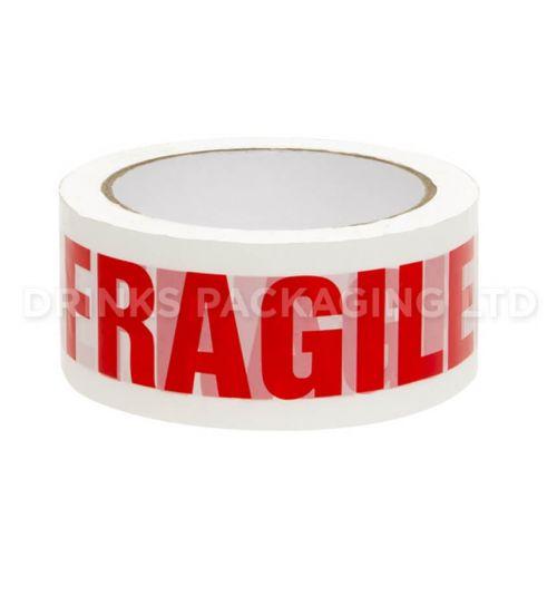 1 Roll - Fragile Warning Parcel Tape    | Beer Box Shop