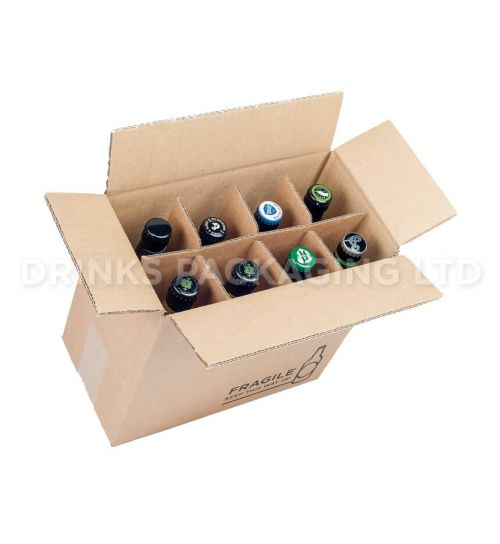 8 Bottle - Compact Courier Box - 330ml Full | Beer Box Shop