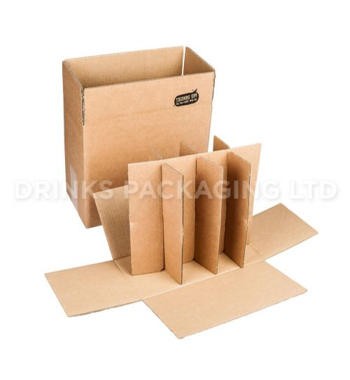 8 Bottle - Compact Courier Box - 330ml Components | Beer Box Shop